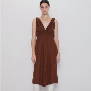 Zara knotted mid length dress